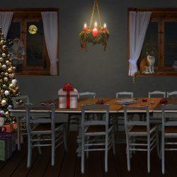 Weihnachtsfeier ohne Gäste